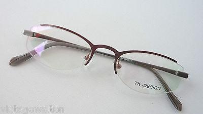 Occhiali Insolita Design Occhiali Montatura Marrone Crazy Parte Occhio Misura M-mostra Il Titolo Originale L'Ultima Moda
