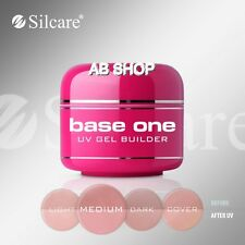 Base One Cover Medium 30g UV Gel Nails Camouflage Builder File Off Gel Silcare