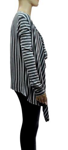 NWT BCBG MAXAZRIA ANGELA Striped Long Sleeve Open Drape Cardigan XXS L Reg$98