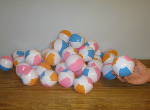 """15 NEW MULTI COLORED MINI BEACH BALLS 5/"""" INFLATABLE POOL BEACHBALL PARTY FAVORS"""