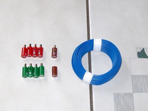 10 connecteurs 1 Bague boutons toron 10m set adapté pour Märklin vice tablettes 7072 7272