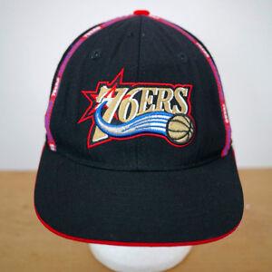 47657040a1a Philadelphia 76ers Vintage Logo Reebok NBA 100% Wool Fitted Baseball ...