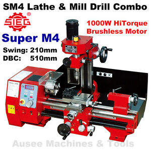 Details about SIEG Super M4 (SM4) HiTorque1000W Lathe & Mill Drill  Combination
