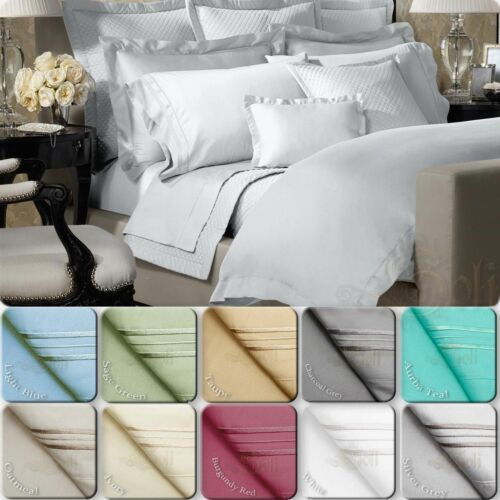 4 PIECE BED SHEET SET 1800 SERIES DEEP POCKET QUEEN FULL KING SIZE Color SALE
