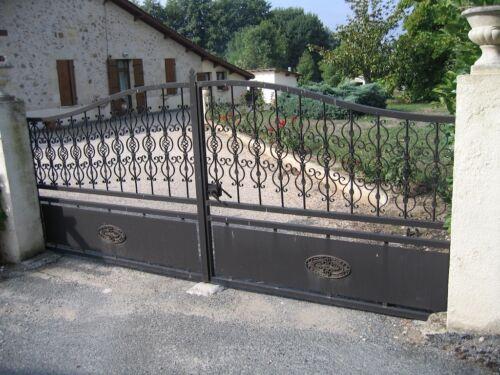 PALMETTE PROVENCE fer forgé 370 X 170 MM DECO PORTAIL