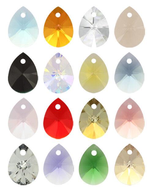 "6128 12 Y ** 4 pendentifs Swarovski /""mini pears/"" 12mm LIGHT TOPAZ"