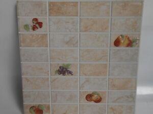 Dettagli su Decoro,formella in ceramica da rivestimento per cucina cm.  20x20 Galles PZ.N°6