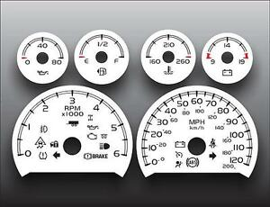 2007-2013-Chevrolet-Tahoe-Auto-Gas-Dash-Instrument-Cluster-White-Face-Gauges