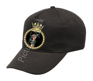 HMS-COURAGEOUS-SHIPS-CREST-PRINTED-ON-A-BASEBALL-CAP-ROYAL-NAVY