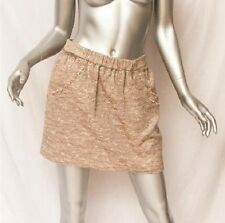 BIRD BY JUICY COUTURE Womens Metallic Silver Tweed Short Mini Skirt S NEW+TAG