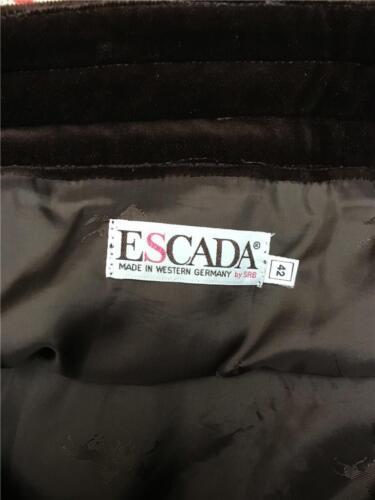 grande lana Escalda lunga Sz Germania velluto in 42 Gonna 100 di marrone gonna qOT7O