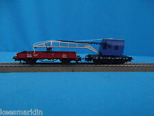 Marklin 4671 + 4423 DB Set Crane car blue + Flat car Brown
