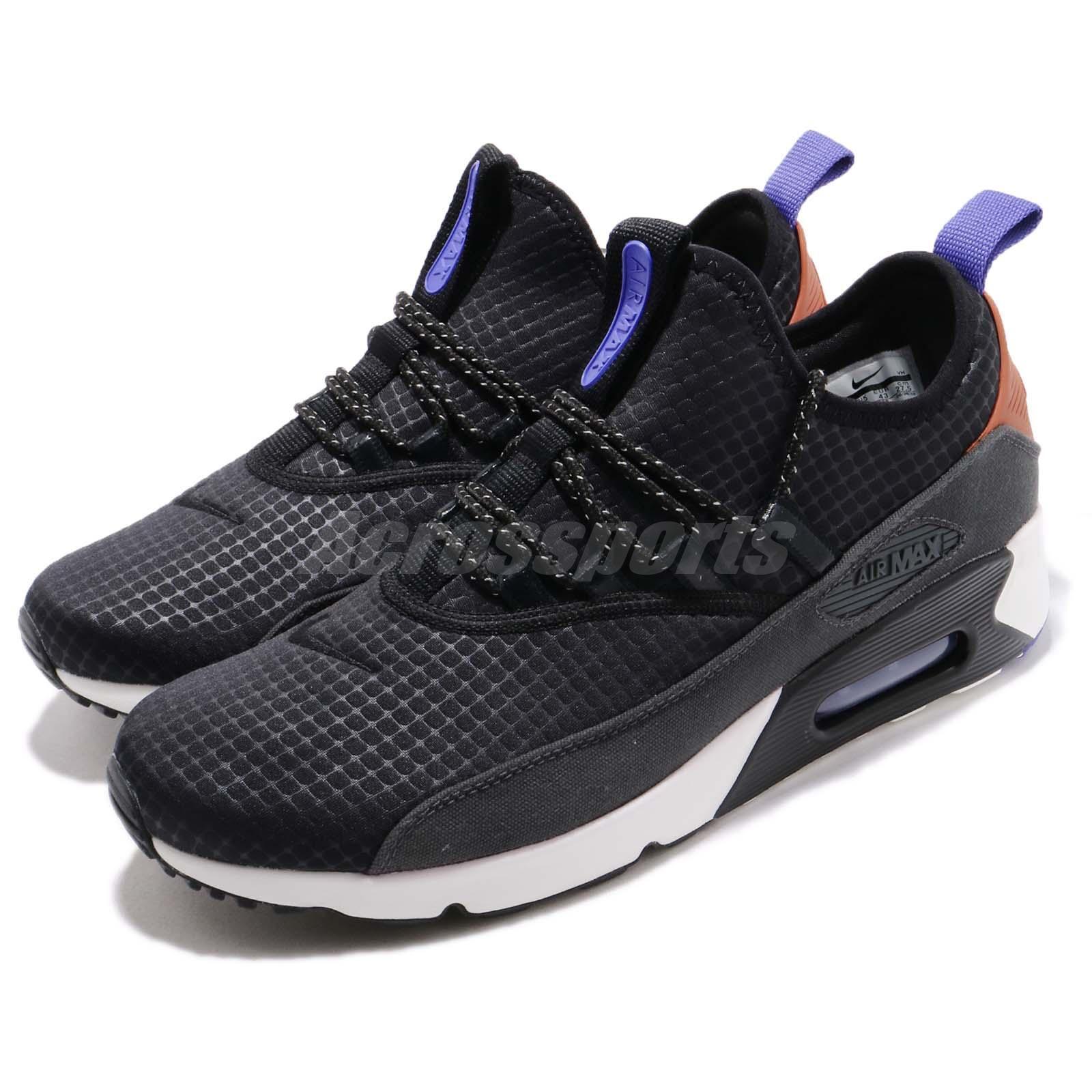 Nike Air Max 90 EZ Schwarz Weiß Lila Herren Laufschuhe Sneakers AO1745-008