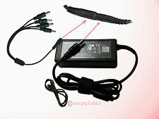 12V AC Power Adapter 4 Way Channel Splitter CCTV SECURITY Pigtail Surveillance