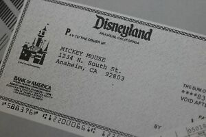 Disneyland-1985-Walt-Disney-Payroll-News-Frontierland-Then-amp-Now-Mickey-Mouse