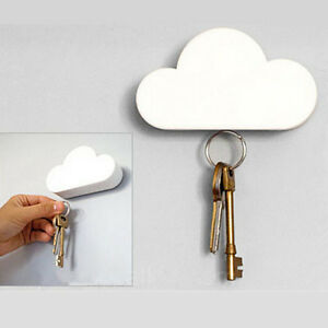Fashion Creative Cloud-shaped Magnetic Keychain White Cloud Novelty Key Holder U