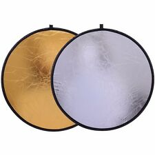 "CY 20"" 50cm Collapsible Portable Disc Light Reflector studio Gold Silver 2in1"