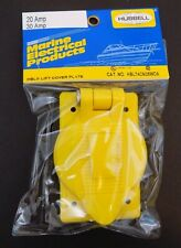 Hubbell Marine Electrical 30 AMP Single Cover Plate 74 CM 24 NEW NOS Fiberglass