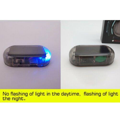 Fake Solar Car Alarm LED Light Security System Warning Theft Flashing Blinking ~