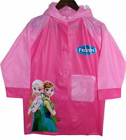 Regenjacke Eiskönigin Frozen Anna Elsa Gr. 122-140 Regenmantel Lang Jacke Disney