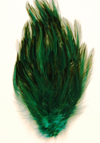 HUNTER GREEN New Pads; Headband//Hats//Bridal//Dress HACKLE FEATHER PAD