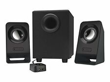 Multimedia Stereo Speakers with Subwoofer and Adjustable Bass Control Knob