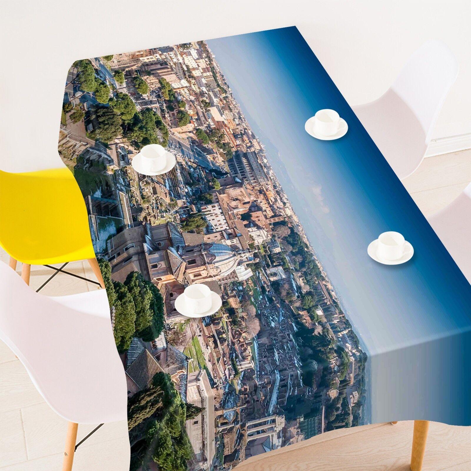 3D Street Sky 2055 Tablecloth Table Cover Cloth Birthday Party Event AJ Summer