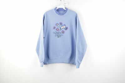 Vintage 1990/'s Pink Seagull Sweatshirt Crewneck Women/'s Pullover Sweatshirt Size Medium Bird Sweatshirt Tourist Duck NC Outer Banks