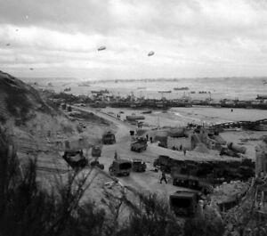 Image Is Loading Ww2 Photo Wwii Omaha Beach June 1944 D