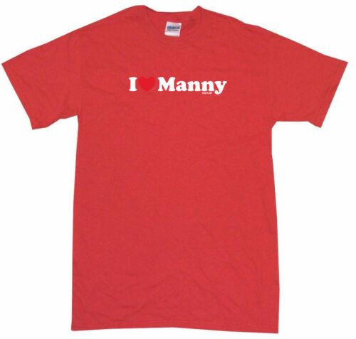 I Heart Love Manny Womens Tee Shirt Pick Size Color Petite Regular