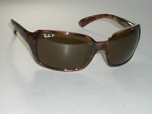 3cbfb0494ea LADIES RAY-BAN ITALY RB4068 642 57 3P BROWN CRYSTAL POLARIZED ...