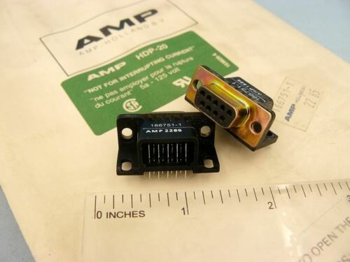 NOS AMP HDP-20 9pin 9 pin 5A 125V Connector QTY=2