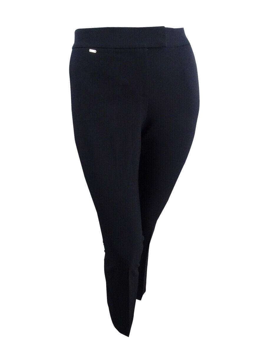 Tahari ASL Woherren Karina Crepe Flat Front Dress Pants