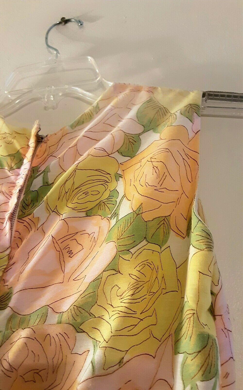 1950's Pastel Rose Print Day Dress (XS) - image 11