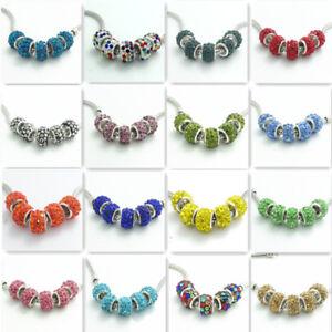 20pcs Argent Verre Européen Charms Beads Fit Collier Bracelet Chaîne Bijoux-afficher Le Titre D'origine Dessins Attrayants;