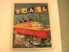 "Vintage Playskool tray Puzzle ""Boats"" Golden Press"
