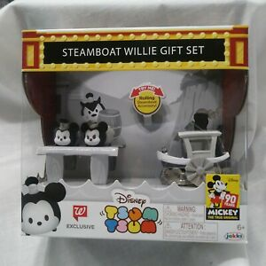 Exclusive-Disney-Tsum-Tsum-Steamboat-Willie-Gift-Set-90-YEARS-OF-MICKEY