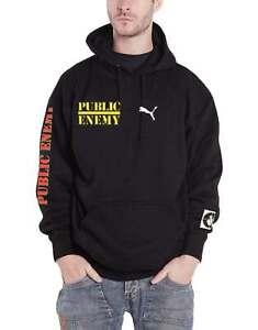 Public-Enemy-Hoodie-Target-Band-Logo-Neu-Offiziell-Schwarz-Pulli-Unisex