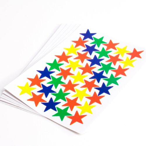 COLOURED STARS STICKERS SET Diary//Notebook Scrapbook//Cardmaking Decoration 1300