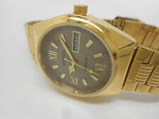 citizen automatic men's gold plated vintage japan made wrist watch run -de17