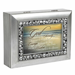 Details about Serenity Prayer Ocean Waves Jeweled Music Box: You Light Up  My Life