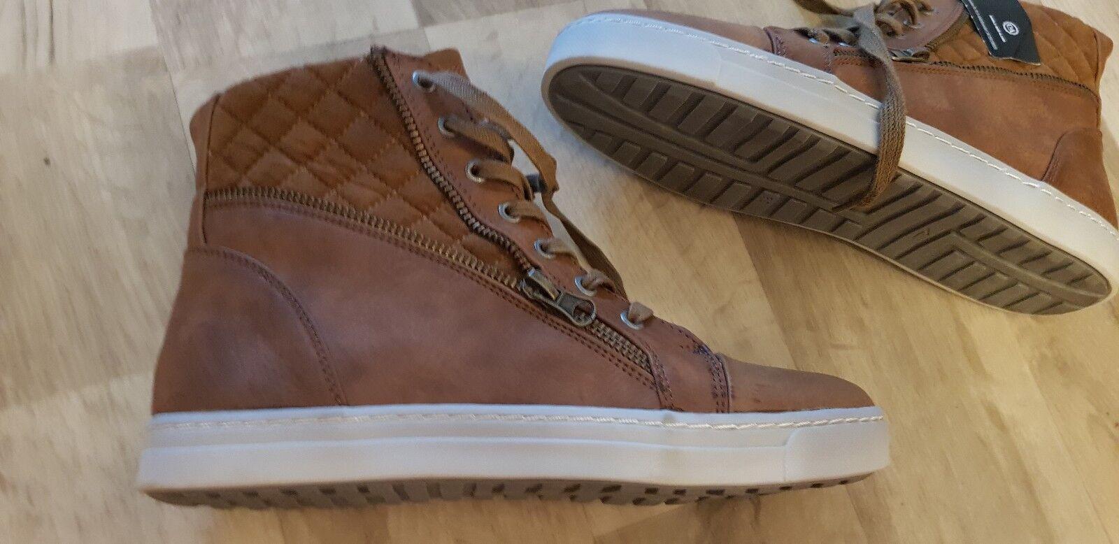 Damen winter stiefelschuhe High Top Sneaker Schuhe Gr.40 Braun C&A