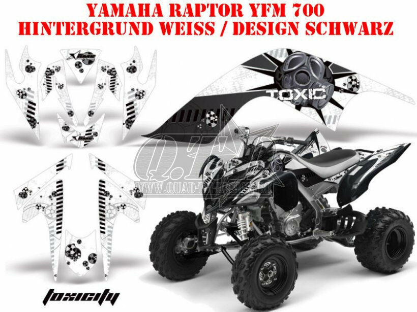 Amr racing decoración Graphic kit ATV Yamaha Raptor 125//250//350//660//700 toxicity B