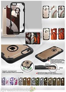 Customized Hybrid Rubber ShockProof Hard Case Cover For Apple iPhone 6 6S Plus