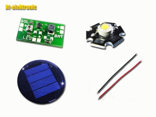 Solar Laderegler Umrüstsatz für 1,2V NiMH Akku LED Solarleuchten warmweiß d=67mm