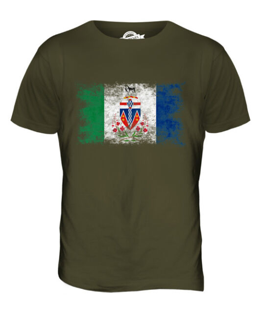 QUEBEC DISTRESSED FLAG MENS T-SHIRT TOP GIFT SHIRT CLOTHING JERSEY