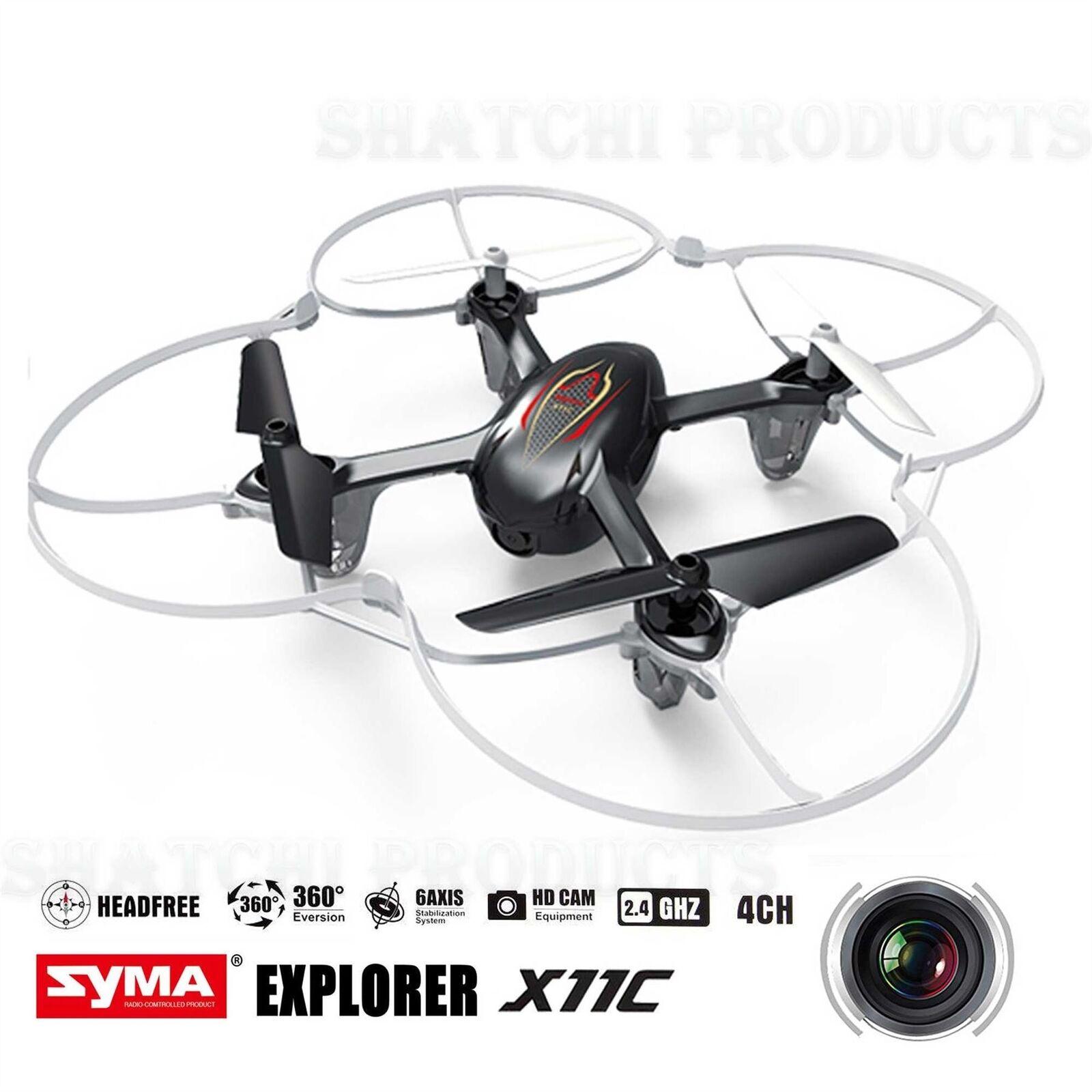 Syma Drone Quadcopter X11C ARIA RTF MINI 2.4 G 4CH 6 ASSI 2MP Camera LED 360   ROLLS