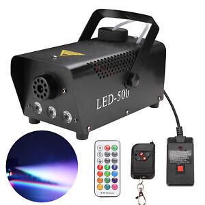 LED-Fog-Machine-Smoke-Machine-RGB-Disco-Remote-Control-Fog-500W-13-Color