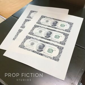 The-Goonies-Pair-Prop-of-Uncut-Banknote-Sheets-Fratelli-039-s-Hideout-Fake-Money
