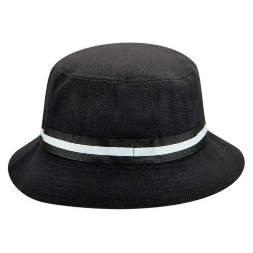 S Kangol Men/'s/'s Stripe Lahinch Summer Bucket Hat K4012SP Black Sizes XL